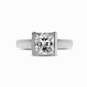 Princess Cut Engagement Ring 1.58ct HVVS2 GIA